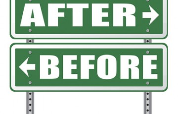 before after comparison make a change for the better