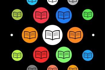 Modernes UI design - aufgeschlagene Seiten