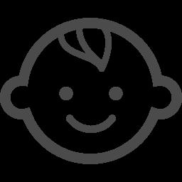 笑顔の赤ちゃんイラスト2